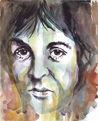 Paul Mccartney Portrait 1 - By Diana Van Poster by Diana Van