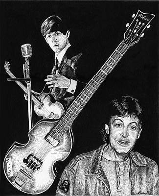 Paul Mccartney's Hofner Bass Poster