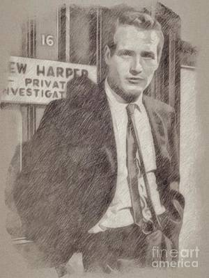 Paul Newman Hollywood Actor Poster by Frank Falcon
