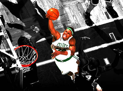 Paul Pierce In The Paint Poster by Brian Reaves