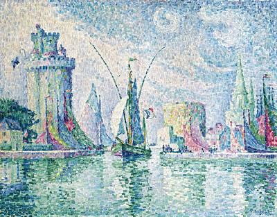 Paul Signac French, 1863-1935, Les Tours Vertes, La Rochelle. Poster
