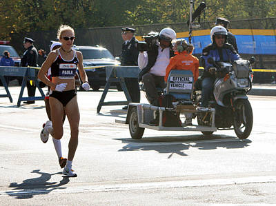 Paula Radcliffe 2007 Ing Nyc Marathon 2 Poster by Terry Cork