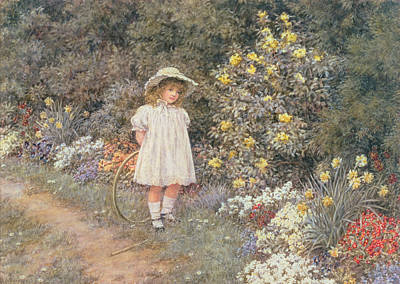 Pause For Reflection Poster by Helen Allingham