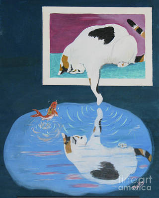 Poster featuring the painting Paws And Effect by Phyllis Kaltenbach