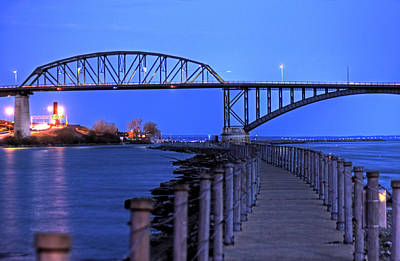 Peace Bridge From Nowak Pier Poster by Don Nieman