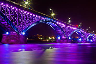 Peace Bridge Led Poster