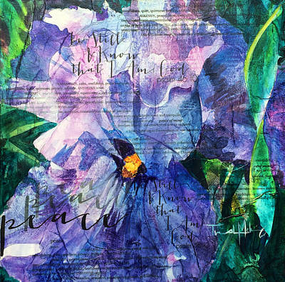 Peace - Iris Poster by Trish McKinney