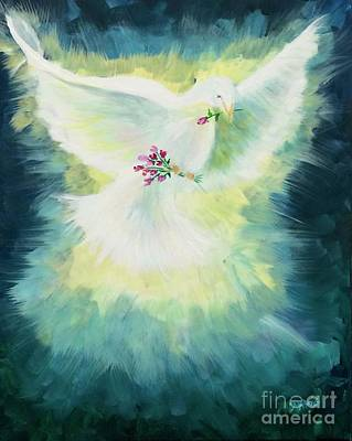 Poster featuring the painting Peace by Lisa DuBois