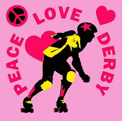 Peace Love Derby Poster