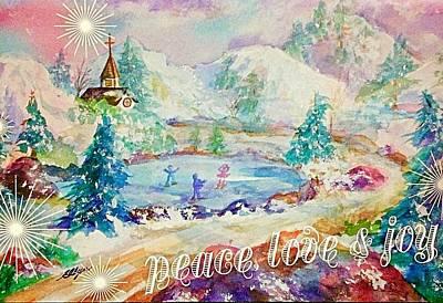 Peace Love Joy Poster by Ellen Levinson