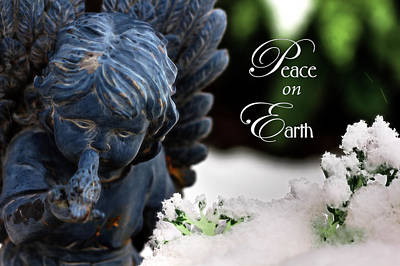 Poster featuring the photograph Peace On Earth Angel by Shelley Neff