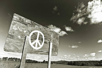 Peace Sepia Poster
