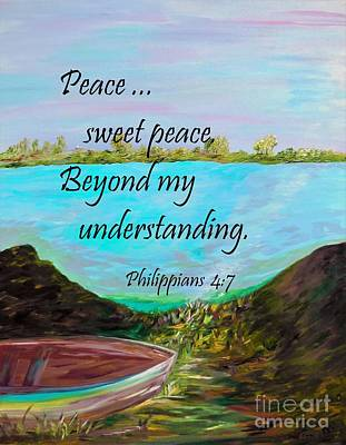 Peace Sweet Peace Poster by Eloise Schneider