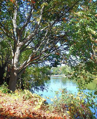 Peaceful Autumn Lake  Poster