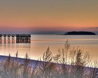 Peaceful Beach Sunrise Poster by John Supan