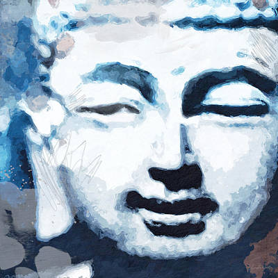 Peaceful Buddha 2- Art By Linda Woods Poster by Linda Woods