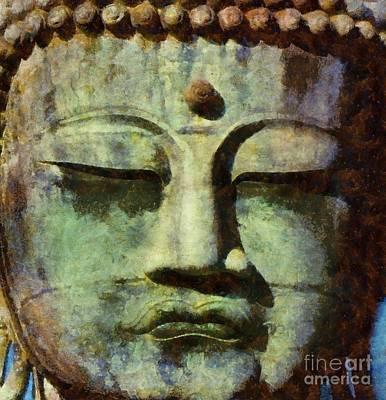 Peaceful Buddha By Sarah Kirk Poster by Sarah Kirk