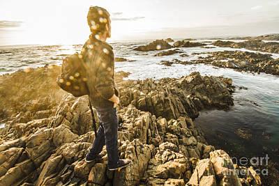 Peaceful Calm Of A Tasmanian Sea Landscape Poster
