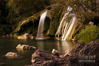 Poster featuring the photograph Peaceful Day At Turner Falls by Tamyra Ayles