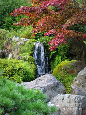 Peaceful Japanese Garden Pond Poster