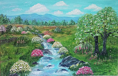Poster featuring the painting Peaceful Meadow by Sonya Nancy Capling-Bacle