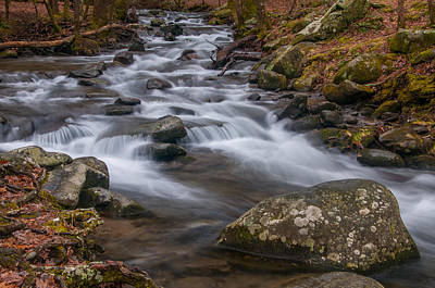 Peaceful Mountain Stream Poster
