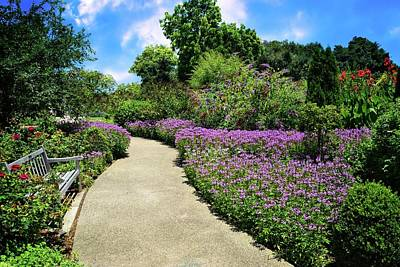 Peaceful Pathway At Huntington Gardens Poster by Lynn Bauer