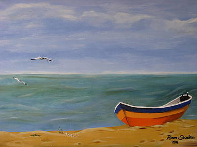 Poster featuring the painting Peaceful Place by Riana Van Staden