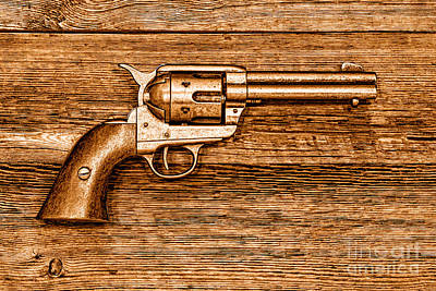 Peacemaker - Sepia Poster by Olivier Le Queinec