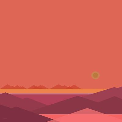 Poster featuring the digital art Peach Dawn by Val Arie