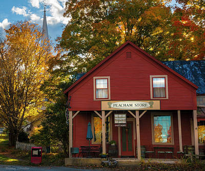 Poster featuring the photograph Peacham Vermont General Store by Expressive Landscapes Fine Art Photography by Thom