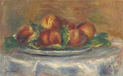 Peaches On A Plate Poster by Auguste Renoir