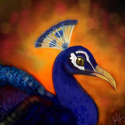 Peacock Cafe Digi Poster