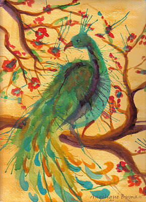 Poster featuring the painting Peacock C'hi by Angelique Bowman