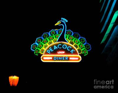 Peacock Diner In The Loop Poster