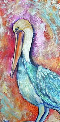 Peacock Envy Poster by Debi Starr