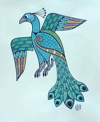 Peacock Poster by Ian Herriott