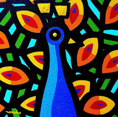 Peacock Vi Poster by John  Nolan