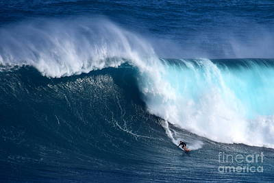Peahi Unleashes Poster by Jackson Kowalski