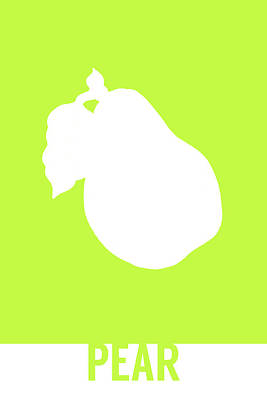 Pear Food Art Minimalist Fruit Poster Series 009 Poster