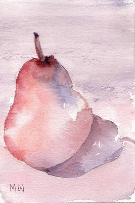 Pear In Purple Poster
