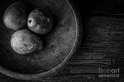 Pear Still Life In Black And White Poster
