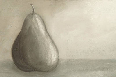 Pear Study In Gray Poster