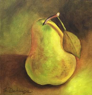 Poster featuring the painting Pear Study  by Susan Dehlinger