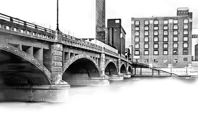 Pearl Street Bridge High Key Poster
