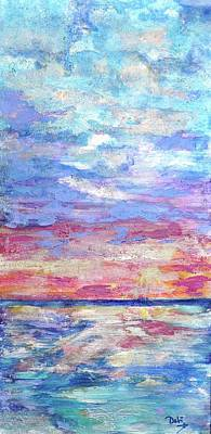 Pearly Sunset Poster by Debi Starr