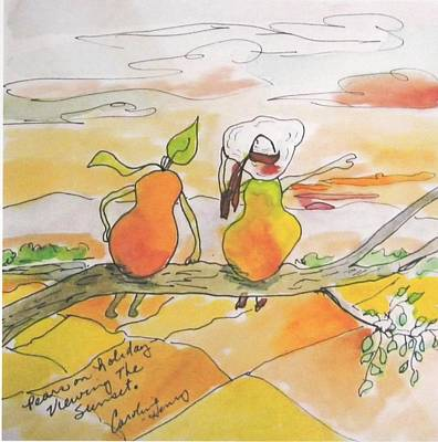 Pears On A Road Trip Poster