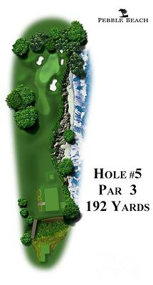 Pebble Beach No 5 Poster by Spencer McKain