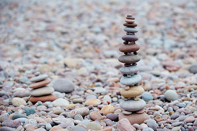 Pebble Stack II Poster by Helen Northcott