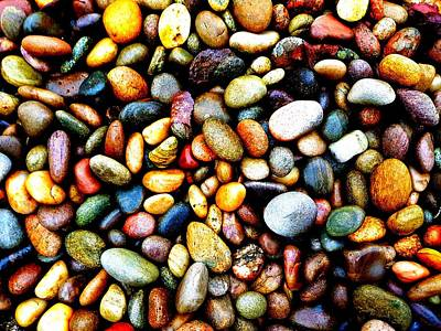 Pebbles On A Beach Poster
